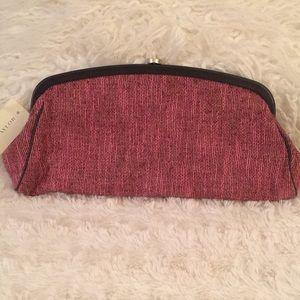 Ann Taylor Pink Fabric Clutch 11 1/2 x 5 x 2 NWT!